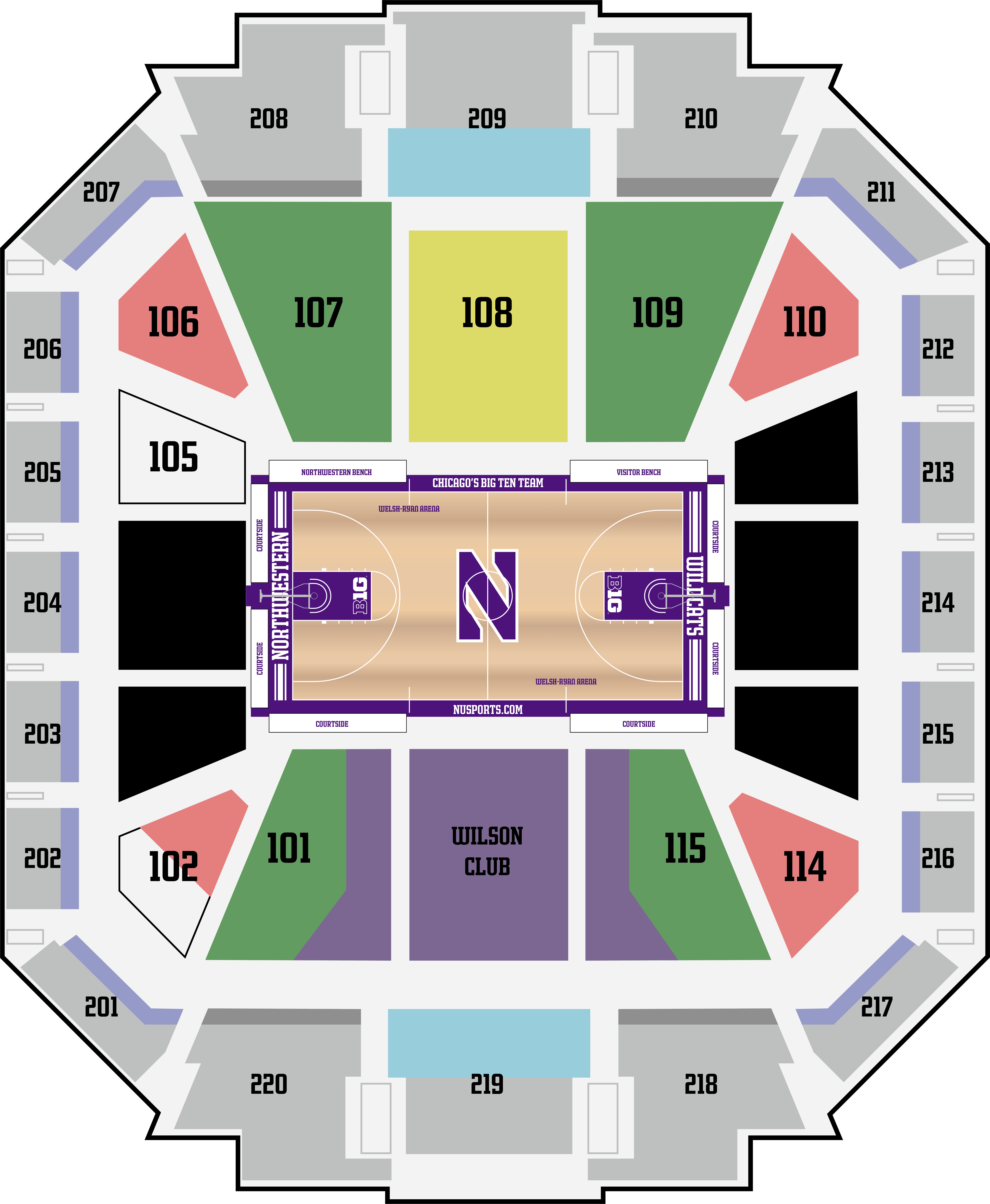 Explanation of Seating Map | Join The Cats